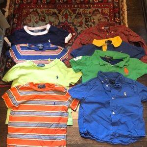 7 Ralph Lauren tees 1 chaps shirt